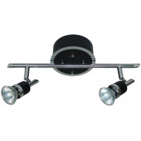 Spottivalaisin FocusLight Modus, 2x50W, 230V, IP20, musta/kromi