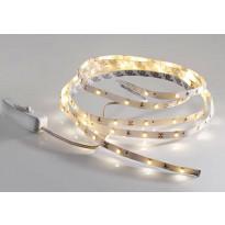 LED-nauha LeuchtenDirekt Teania, 5W, 230V, 3000K, 240lm, IP20, valkoinen