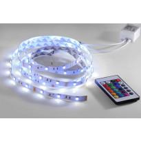 LED-nauha LeuchtenDirekt Teania, 16,8W, 230V, RGB, 360lm, IP20, valkoinen