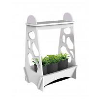 Kasvivalaisin Globo Mini Garden LED, 14W, IP54, 480x138x320mm, puu, valkoinen