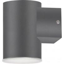 Seinävalaisin Polux Nivero LED, 6,5W, 230V, 4000K, 450lm, IP44, harmaa