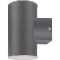 Seinävalaisin Polux Nivero LED, 10,5W, 230V, 4000K, 900lm, IP44, harmaa