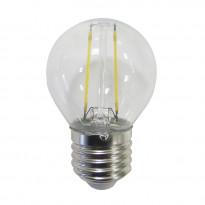 LED-lamppu Polux filamentti, E27, 2W, läpinäkyvä