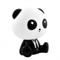 Pöytävalaisin Polux Panda LED, 2.5W, IP20, 195x160x245mm, muovi, musta/valkoinen