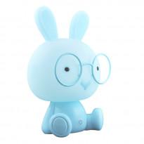 Pöytävalaisin Polux Krolik LED, 2.5W, IP20, 195x165x305mm, muovi, sininen