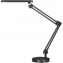 Työpöytävalaisin FocusLight Colin LED, 5,6W, 230V, 350lm, IP20, musta