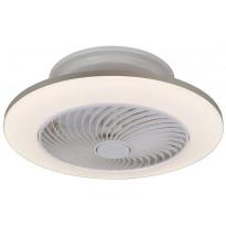 LED-kattotuuletinvalaisin Rabalux Dalfon, CCT 3000-6000K, 36W, Ø55cm, valkoinen