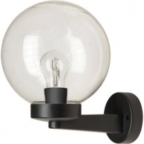 Seinävalaisin Smartwares Globe, 60W, 230V, IP44, musta
