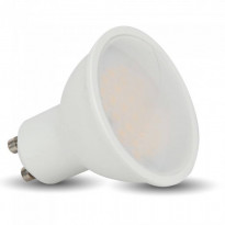 LED-lamppu GU10 V-TAC VT-2779, 7W, 230V, 3000K, 500lm, IP20, Ø 50mm
