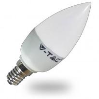LED-lamppu Kynttilä V-TAC VT-1855, 6W, 230V, 4500K, 470lm, IP20, Ø 37mm