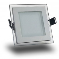 Upotettava LED-valaisin V-TAC VT-602G, SQ 6W, 230V, 3000K, 420lm, IP20, valkoinen