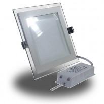 Upotettava LED-valaisin V-TAC VT-1202G SQ, 12W, 230V, 3000K, 840lm, IP20, valkoinen