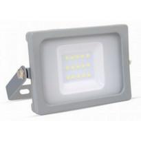 LED-valonheitin V-TAC Slim Vt-4911, 10W, IP44, harmaa