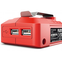Akkusovitin USB-laturi Flex PS 10,8/18V