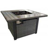 Liekkipöytä 9108, 1155x1155x635 mm, polyrottinkia, kaasukäyttöinen