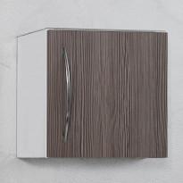 Seinäkaappi 40, 400x404x295mm, valkoinen/ruskea