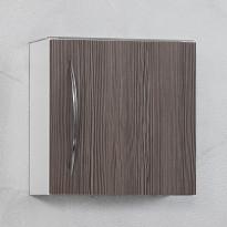 Seinäkaappi 40, 400x404x160mm, valkoinen/ruskea