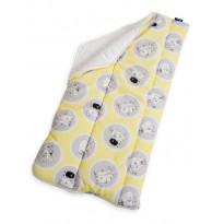 Vauvan makuupussi Familon Muumipallot, 45 x 95 cm, keltainen