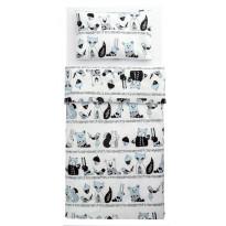 Lasten pussilakanasetti Familon Karhunen, 120 x 160 cm, vaaleansininen