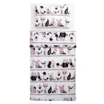 Lasten pussilakanasetti Familon Karhunen, 120 x 160 cm, vaaleanpunainen