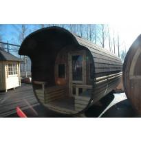 Tynnyrisauna Elmeri, 240x510, lämpöpuu