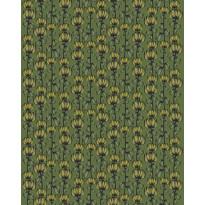 Paksu puuvillakangas Finlayson Alma, 150cm, vihreä/keltainen