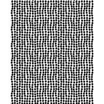 Paksu puuvillakangas Finlayson Pampula, 150cm, musta/valkoinen