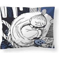 Puuvillatyynyliina Finlayson Torkkumyy, 50x60cm, valkoinen/sininen