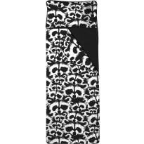 Unipussi Finlayson Pesue, 90x250cm, musta/valkoinen, luomupuuvilla