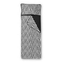 Unipussi Finlayson Pampula, 90x250cm, musta/valkoinen