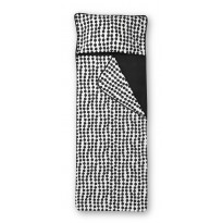 Unipussi Finlayson Pampula, 90x250cm, musta/valkoinen, luomupuuvilla