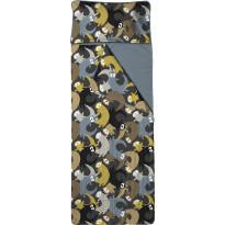 Unipussi Finlayson Lutralutra, 90x250cm, tummanharmaa/keltainen