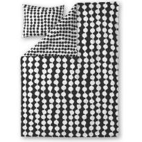 Pussilakanasetti Finlayson Pampula, 150x240+50x60cm, musta/valkoinen