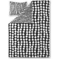 Pussilakanasetti Finlayson Pampula, 150x210+50x60cm, musta/valkoinen