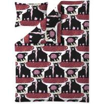 Pussilakanasetti Finlayson Otso, 150x210+50x60cm, punainen/roosa