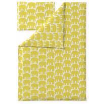 Lasten pussilakanasetti Finlayson Elefantti, 120x160cm, keltainen