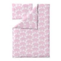 Vauvan pussilakanasetti Finlayson Elefantti, 85x125+40x60cm, roosa