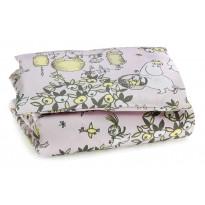 Juhlamuumi vauvan pussilakanasetti, roosa/harmaa, 85x125cm