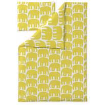 Vauvan pussilakanasetti Finlayson Elefantti, 85x125cm, keltainen