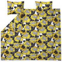 Parivuoteen pussilakanasetti Finlayson Annukka, 240x220cm, keltainen