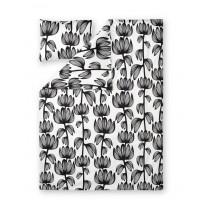 Satiinipussilakanasetti Finlayson Alma, 150x210+50x60cm, valkoinen/musta