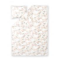 Satiinipussilakanasetti Finlayson Latvus, 150x210+50x60cm, valkoinen/roosa