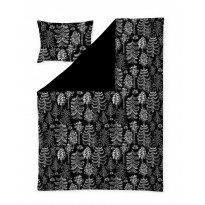 Satiinipussilakanasetti Finlayson Sadussa, 150x210+50x60cm, musta/harmaa