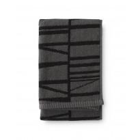 Käsipyyhe Finlayson Coronna, 50x70cm, harmaa, musta
