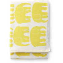 Kylpypyyhe Elefantti, keltainen, 70x150cm