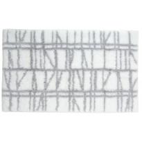 Kylpyhuoneen matto Finlayson Coronna, 50x80cm, valkoinen, harmaa