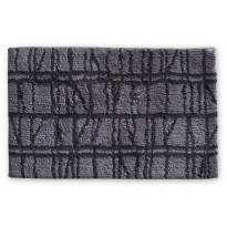 Kylpyhuoneen matto Finlayson Coronna, 50x80cm, harmaa/musta