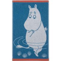 Käsipyyhe Finlayson Muumipeikko, 30x50 cm, tumma turkoosi