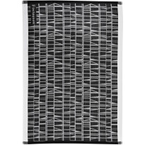 Keittiöpyyhe Finlayson Coronna, 50x70cm, musta/valkoinen