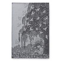 Keittiöpyyhe Finlayson Metsän Kesä, 50x70cm, musta/valkoinen